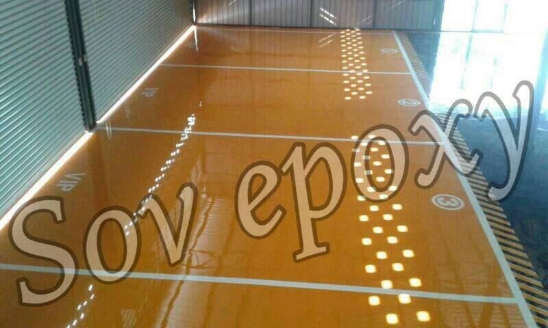งานพื้น  Epoxy  Self leveling  งานโชว์รูมรถนำเข้า