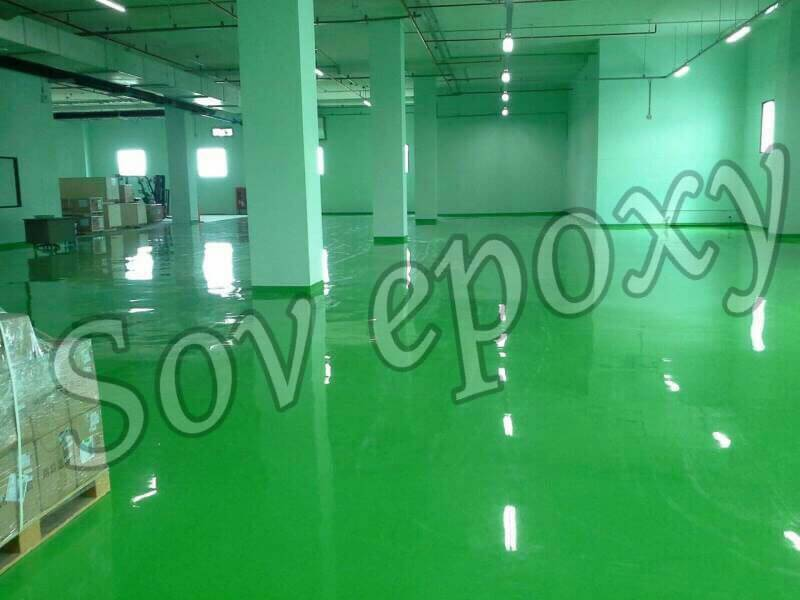 งานพื้น Epoxy  Self leveling  งานโรงงานผลิต อะไหล่รถ