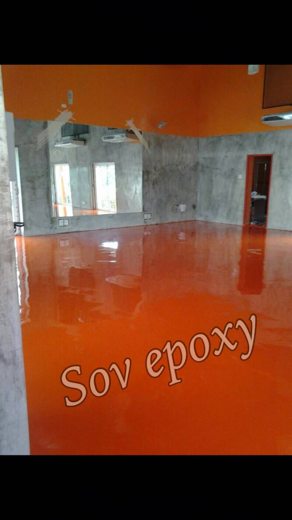 งานเคลือบพื้น Epoxy Self-leveling 2 mm.หน่วยงาน ออฟฟิศ จ.นครสวรรค์ 1