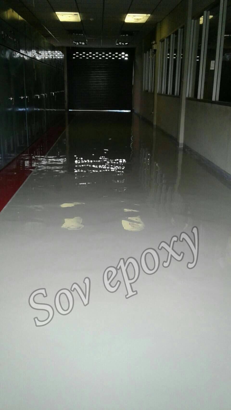 งานเคลือบพื้น Epoxy Self-leveling โรงไฟฟ้า จ.ชลบุรี 1