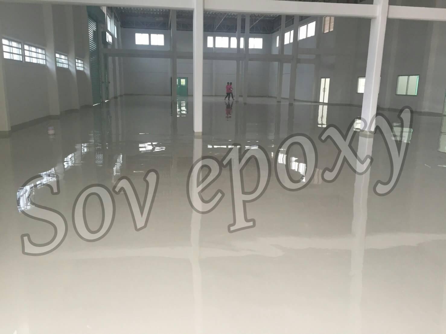 งานพื้น Epoxy Coating Epoxy Self leveling โรงงานโรจนะ 1
