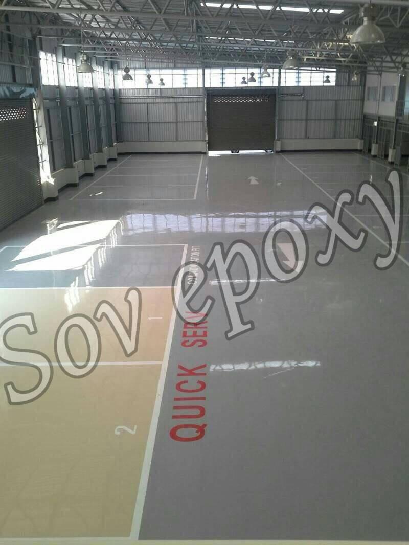 งานพื้น Epoxy Self leveling งานโชว์รูม มิตซู 1