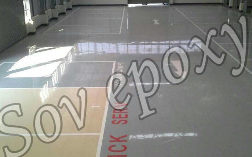 งานพื้น  Epoxy  Self leveling     โชว์รูม มิตซู
