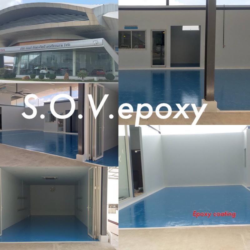 พื้น Epoxy Coating ฮอนด้า จ.นครศรีธรรมราช 1