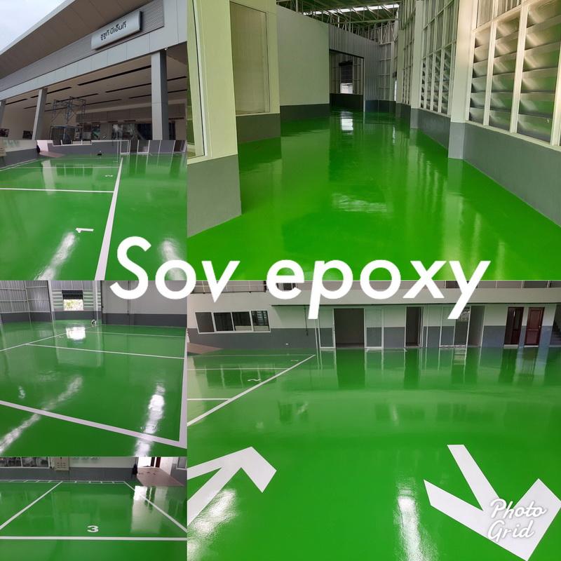 เคลือบพื้น Epoxy Coating โชว์รูมรถซูซูกิ พนัสนิคม 1