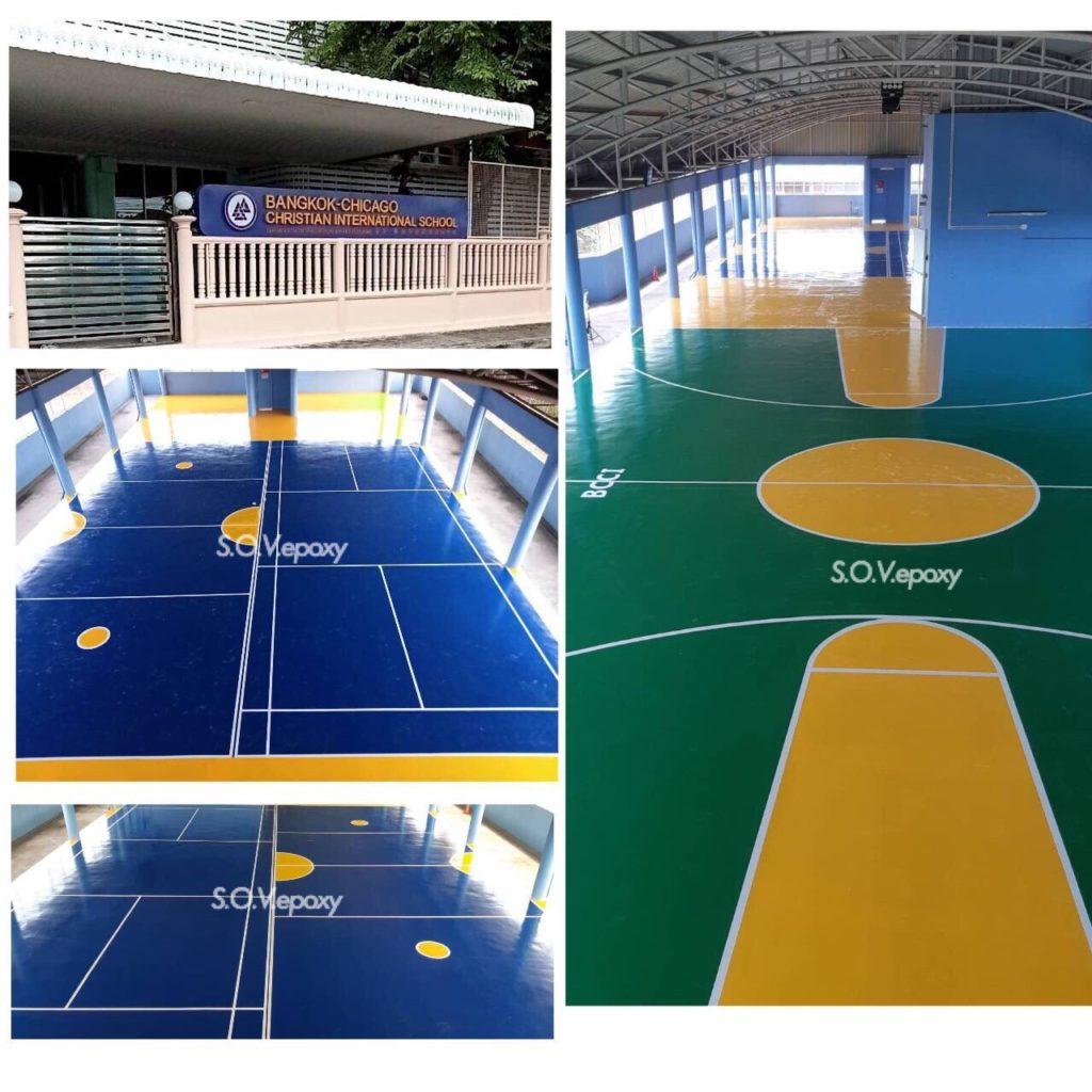 พื้นสนามกีฬา พื้น PU SPORT-โรงเรียนนานาชาติแบงค์คอก ชิคาโก คริสเตรียน